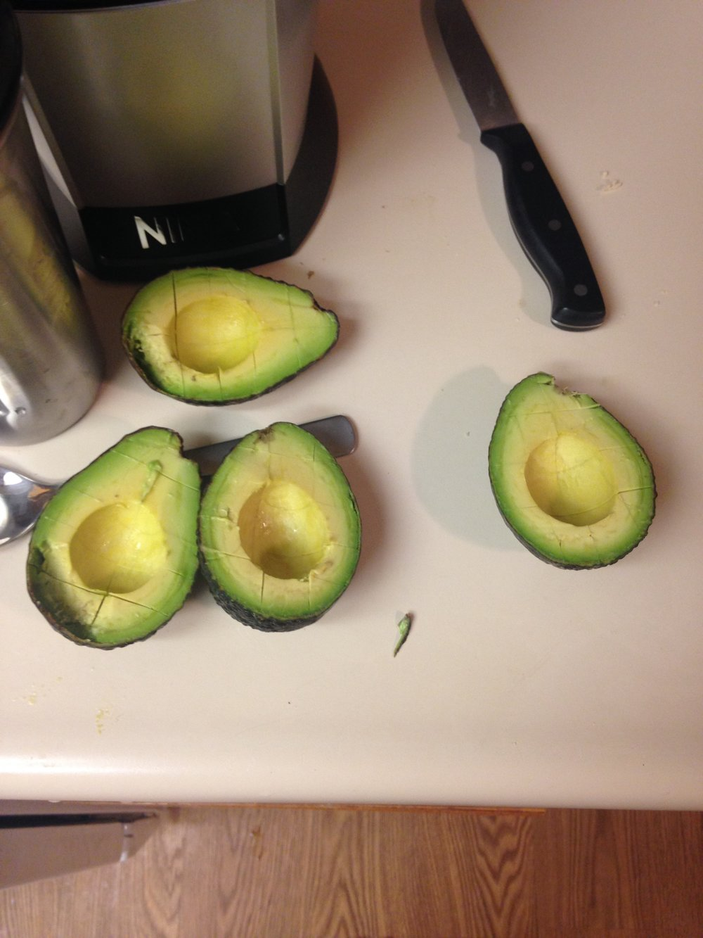cut up avocado