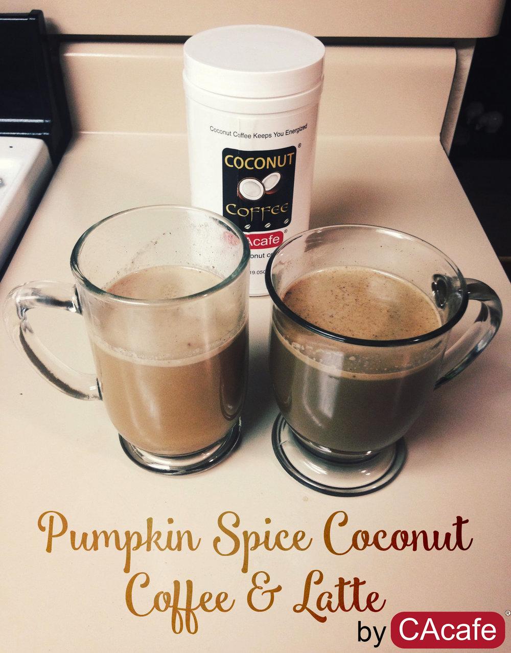 pumpkin spice coconut coffee and latte