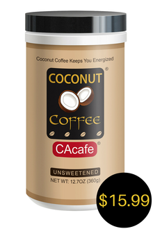 CAcafe unsweetened coconut coffee