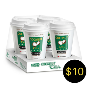 CAcafe coconut tea gourmet to go cups