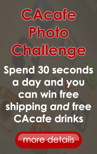 CAcafe photo challenge contest win free shipping products