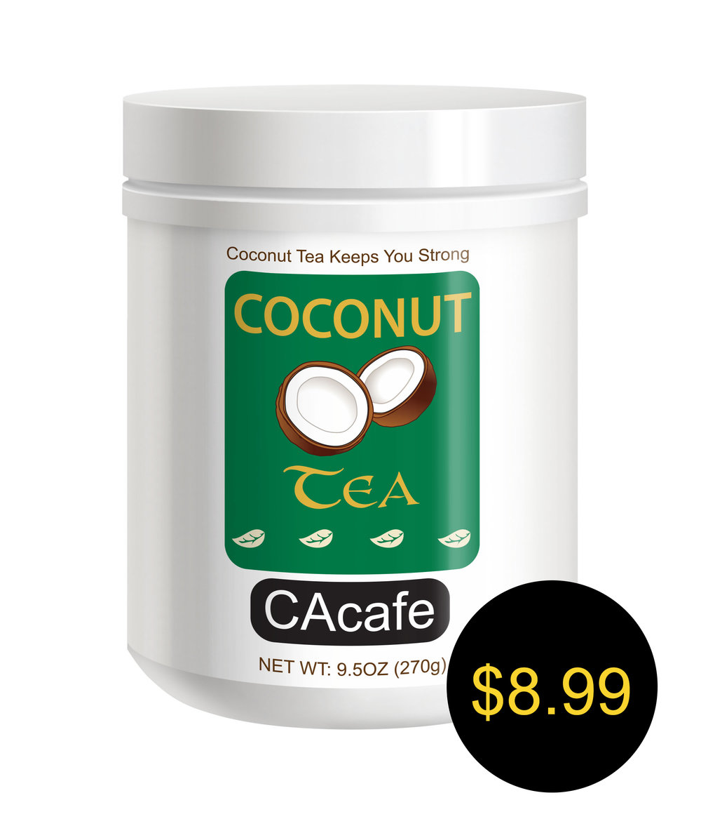 CAcafe coconut tea mini jar cane sugar added