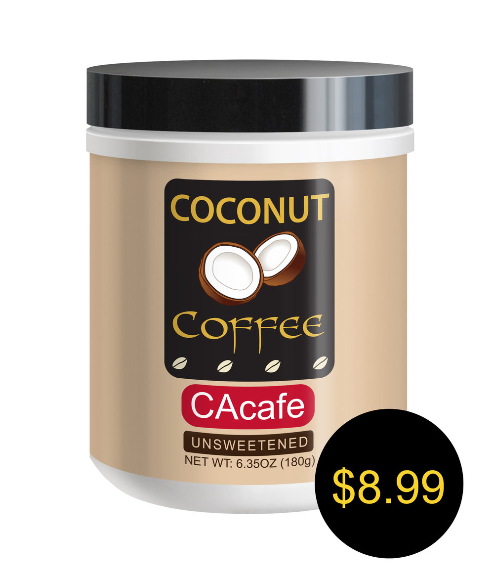 CAcafe coconut coffee mini jar unsweetened