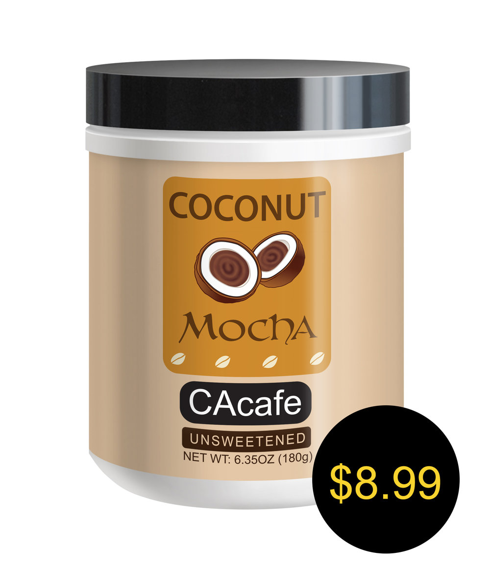 CAcafe coconut mocha mini jar unsweetened