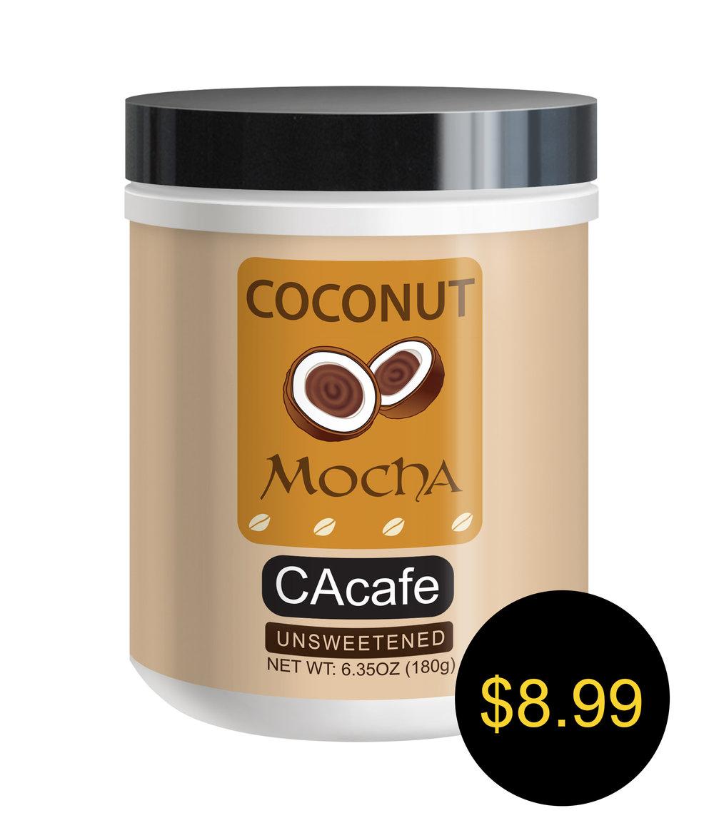 CAcafe coconut mocha mini jar unsweetened