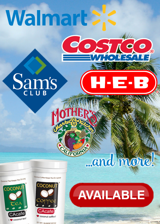 CAcafe in stores U.S. walmart costco sam's club HEB Mother's Market