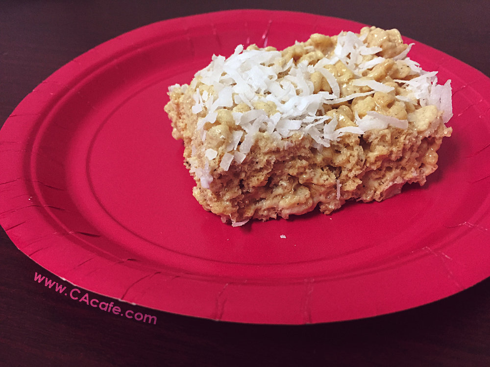 CAcafe coconut coffee rice krispies recipe