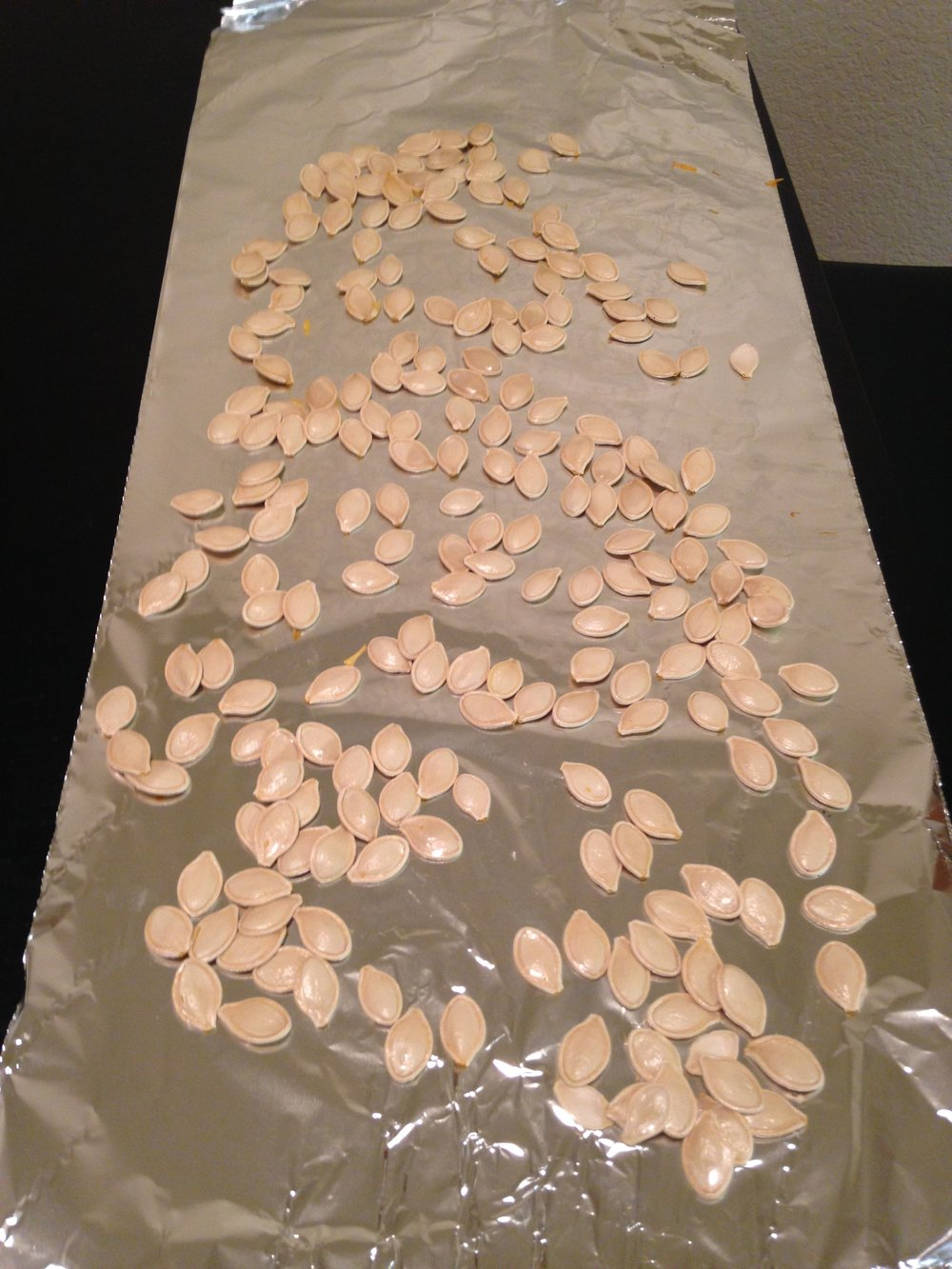 drying pumpkin seeds