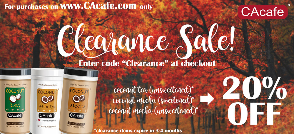 CAcafe clearance sale 20% off save deal