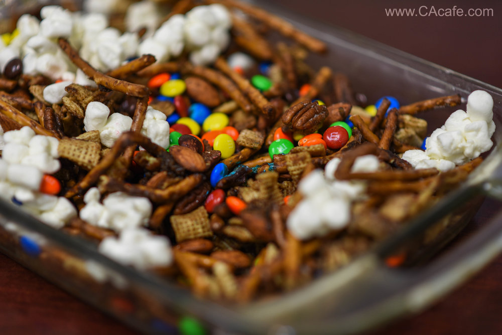 CAcafe coconut coffee Halloween chex mix