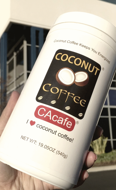 CAcafe customer story review coconut coffee love skin