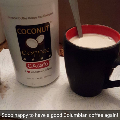 CAcafe customer review story coconut coffee tasty creamy