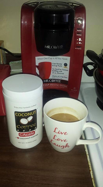 CAcafe customer review coconut coffee digestion help
