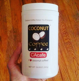 CAcafe customer review story coconut coffee train fight energy