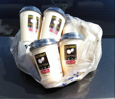 CAcafe customer review story love delicious treat coconut coffee