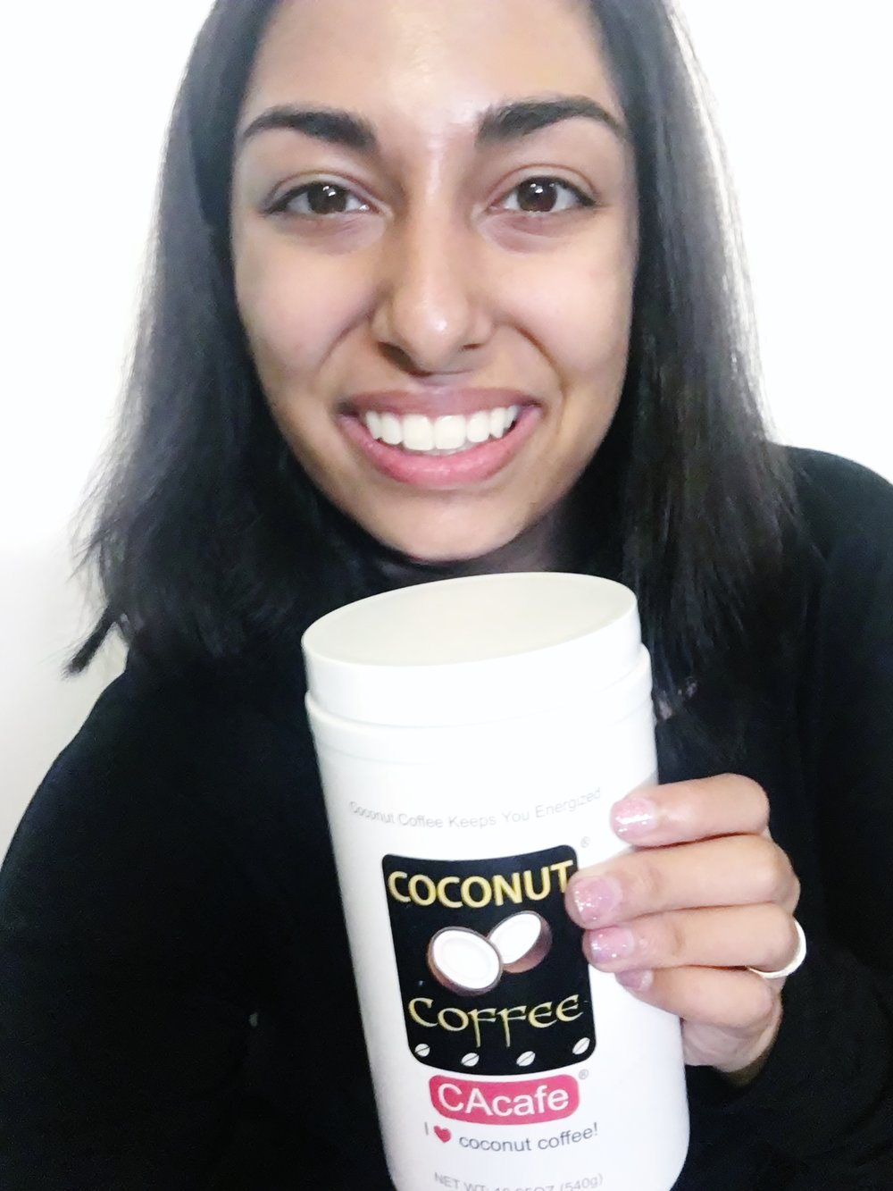 """Feel confident and excited.  This is the power of coconut coffee..."" Read Elora's full review here!"
