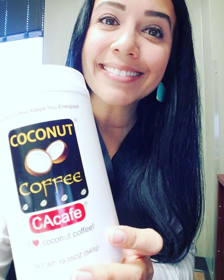 CAcafe customer review for Coconut Coffee that gives great hair, skin and nails! Read more here: