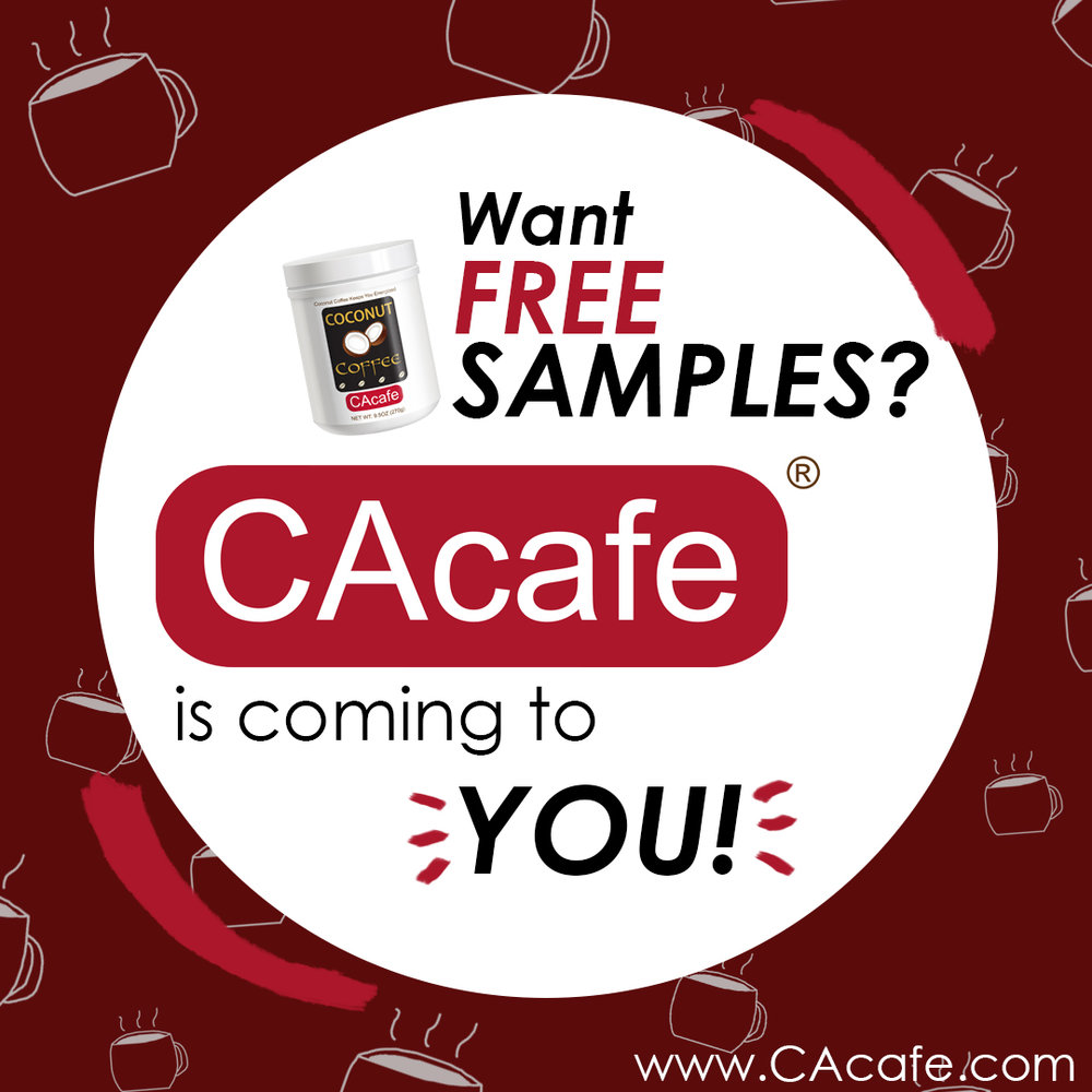 CAcafe free samples at costco, coconut coffee coming to you!