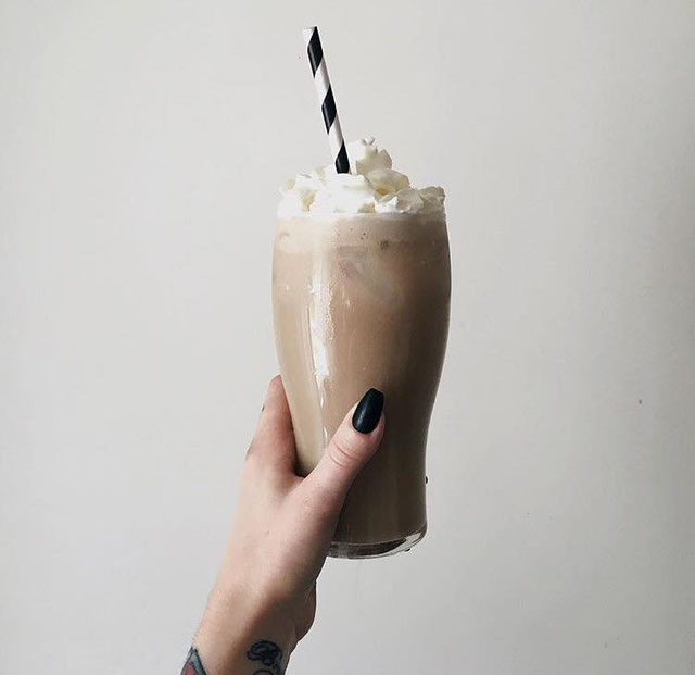 CAcafe iced coconut coffee and iced coconut mocha recipe