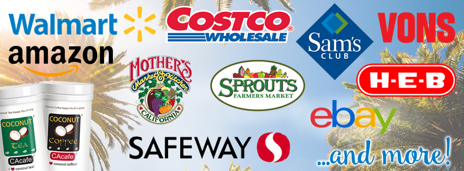 CAcafe in stores U.S. walmart costco sam's club HEB Mother's Market Sprouts Safeway Vons