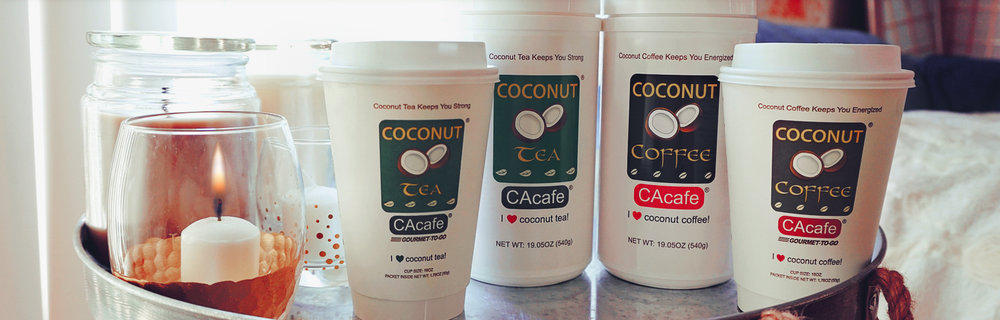 CAcafe coconut coffee and tea series