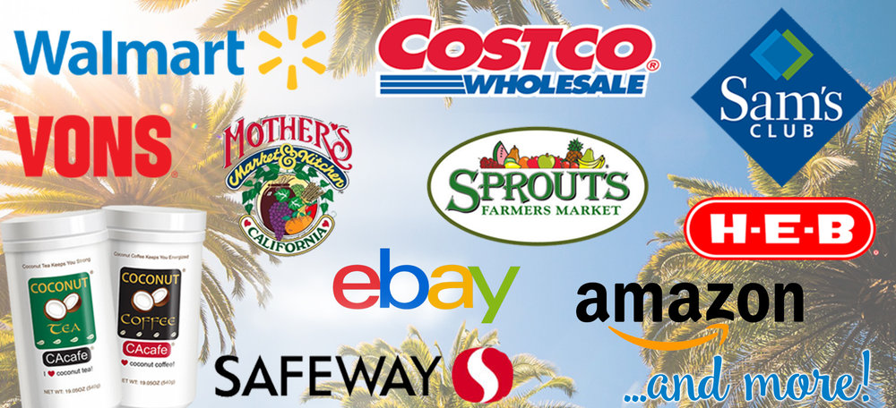 CAcafe in stores U.S. walmart costco sam's club HEB Mother's Market Sprouts Vons Safeway eBay Amazon