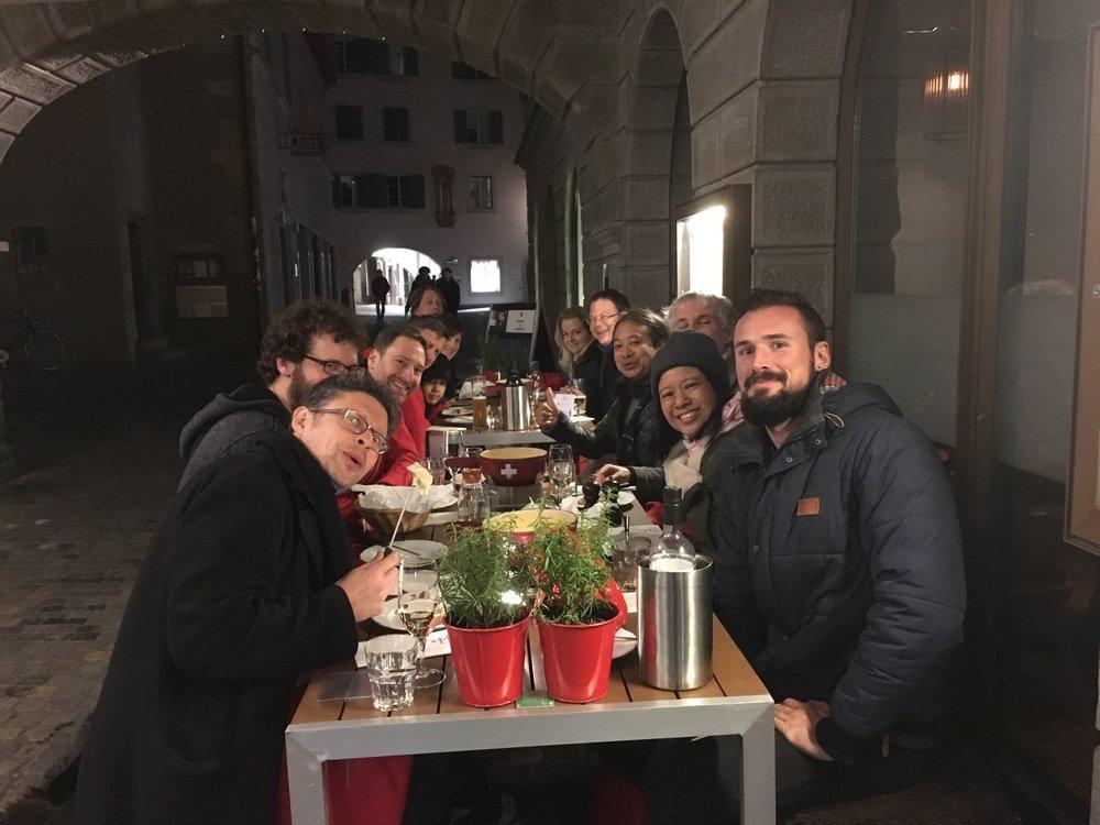 Post-concert fondue, Zurich