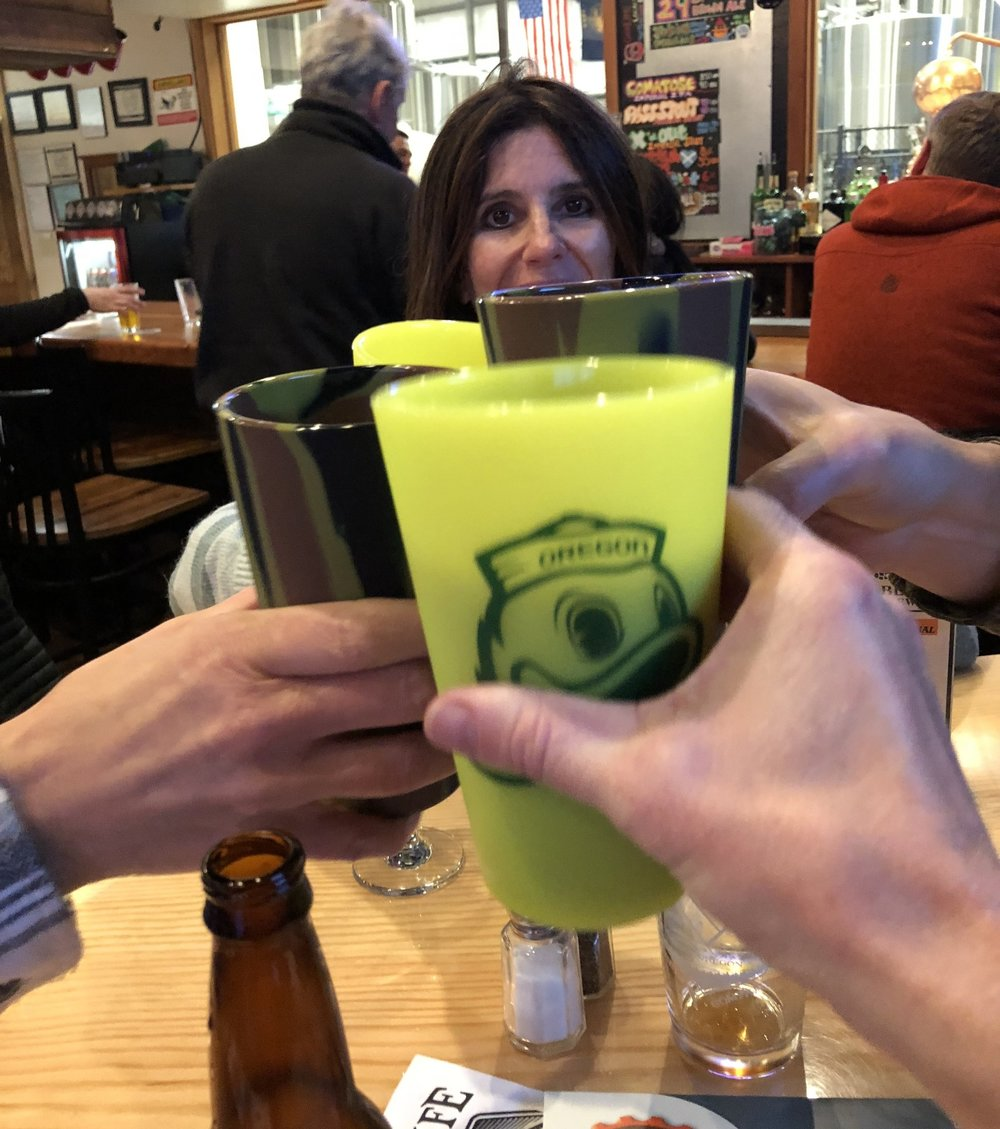 We said cheers to the end of a successful day at Bend's    GoodLife Brewery    with our new    Silipints   .