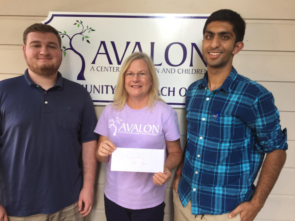 John Benn '18, Priscilla Bevel Caldwell - Avalon's Director of Development and Communications, and Vansh Bansal '19