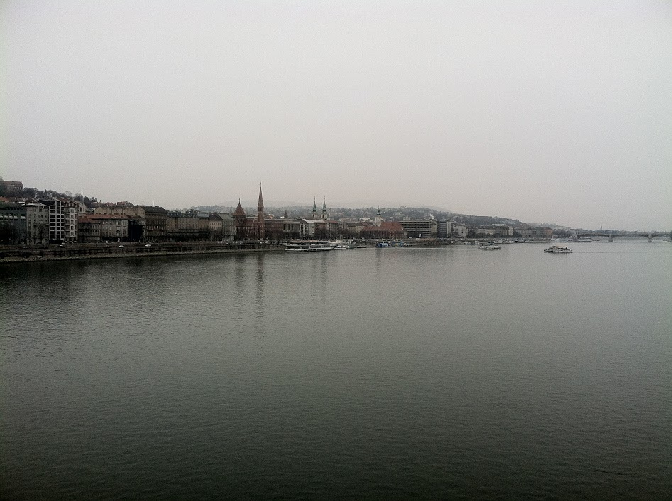 Danube River between Buda and Pest.