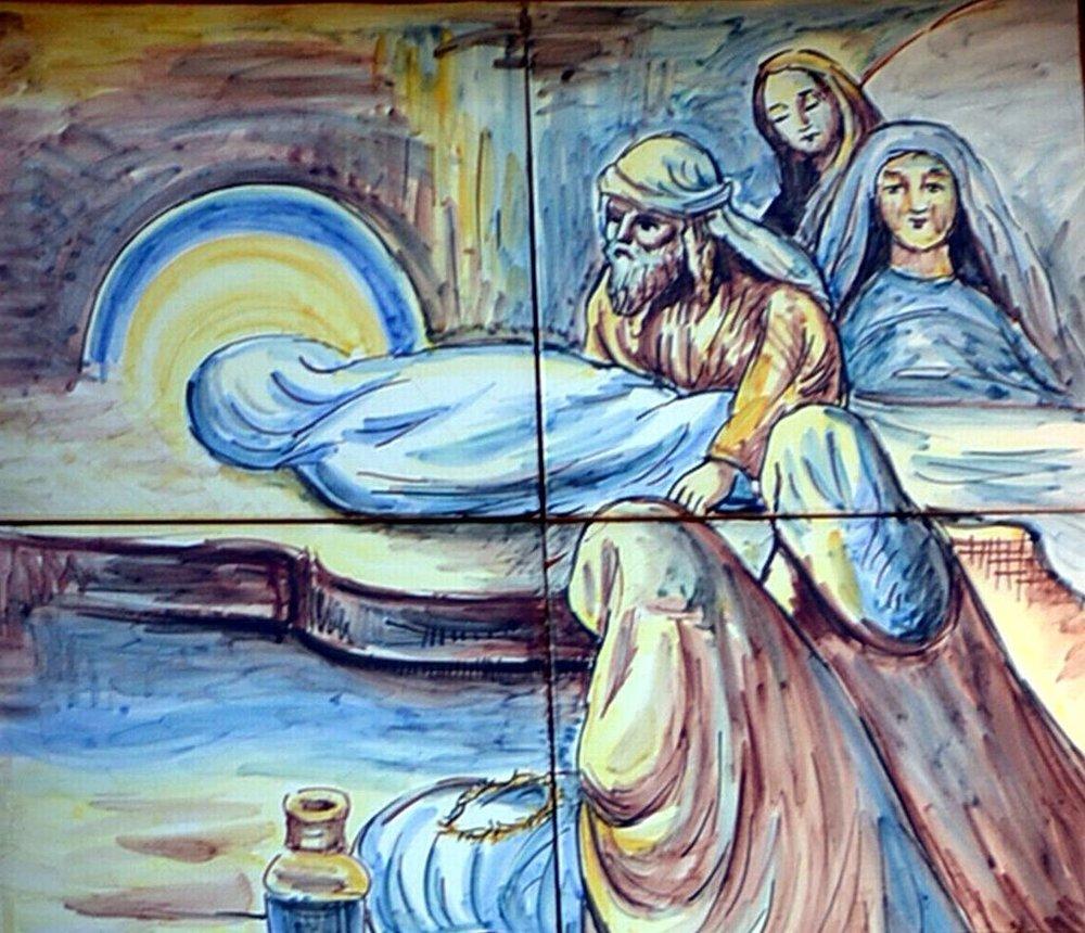 Estación XIV del Viacrucis de Casasbajas (Valencia): Jesús es sepultado.