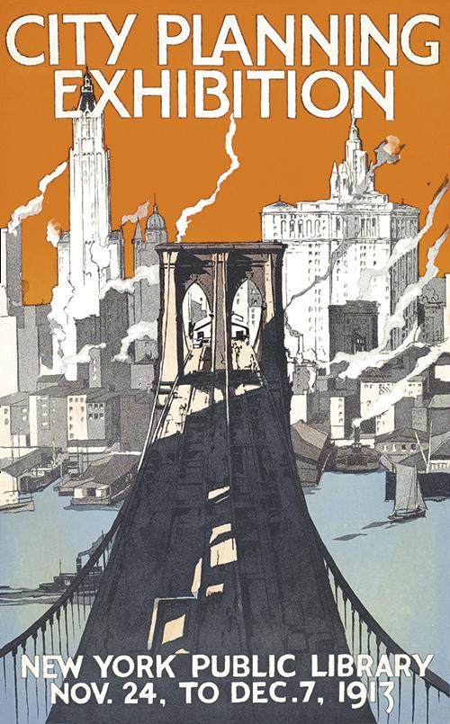 vintage city planning poster