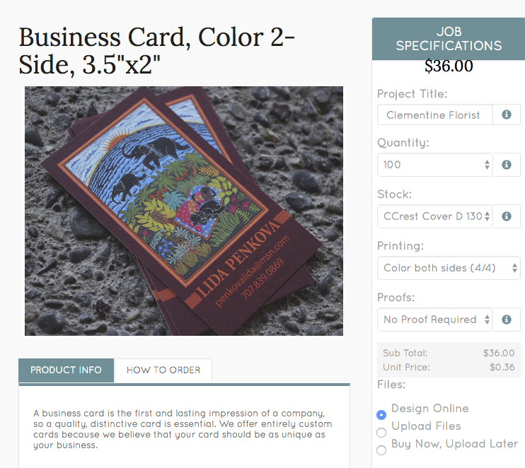 Designing Business Cards Online — Bug Press - Graphic Design & Printing