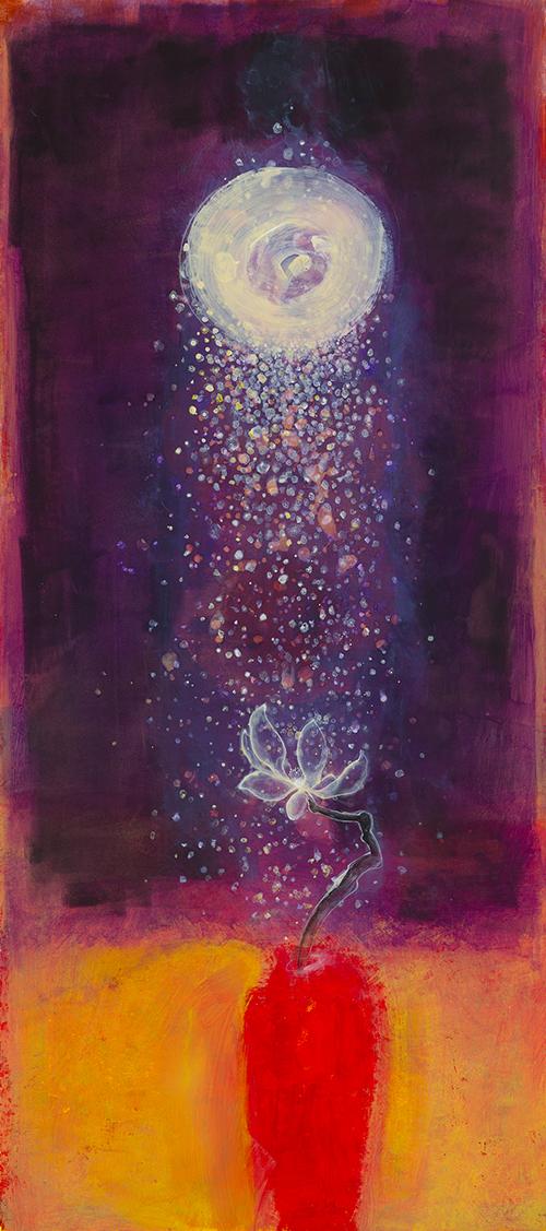 Light Flower in Red Vase,  2010
