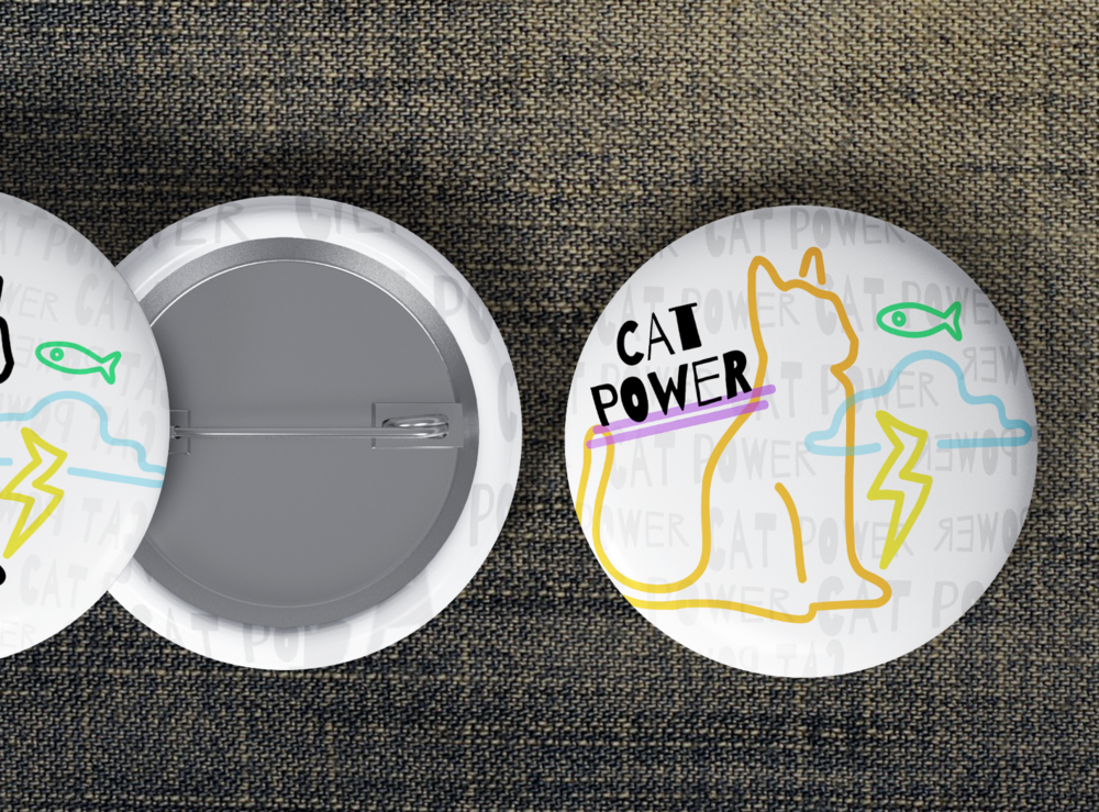 BY THE POWER INVESTED IN CATS Mini buttons
