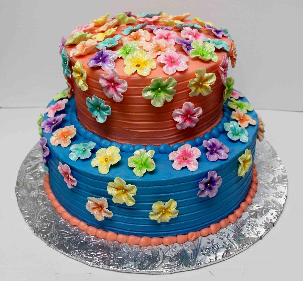 Spring flower cake.