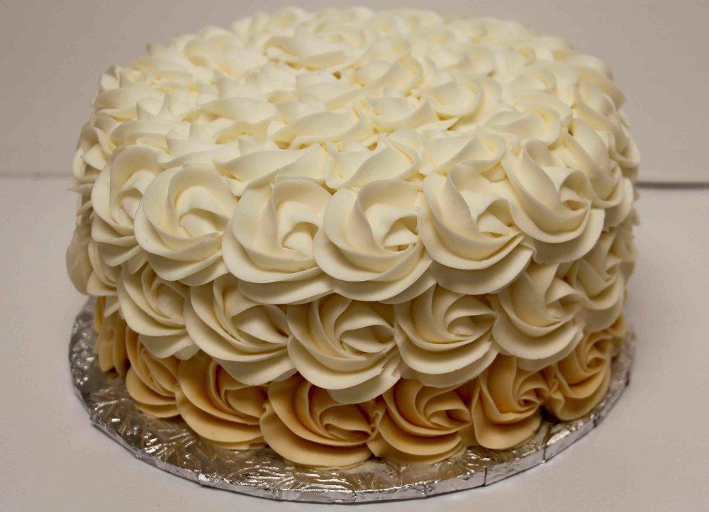 Rossette vanilla cake.