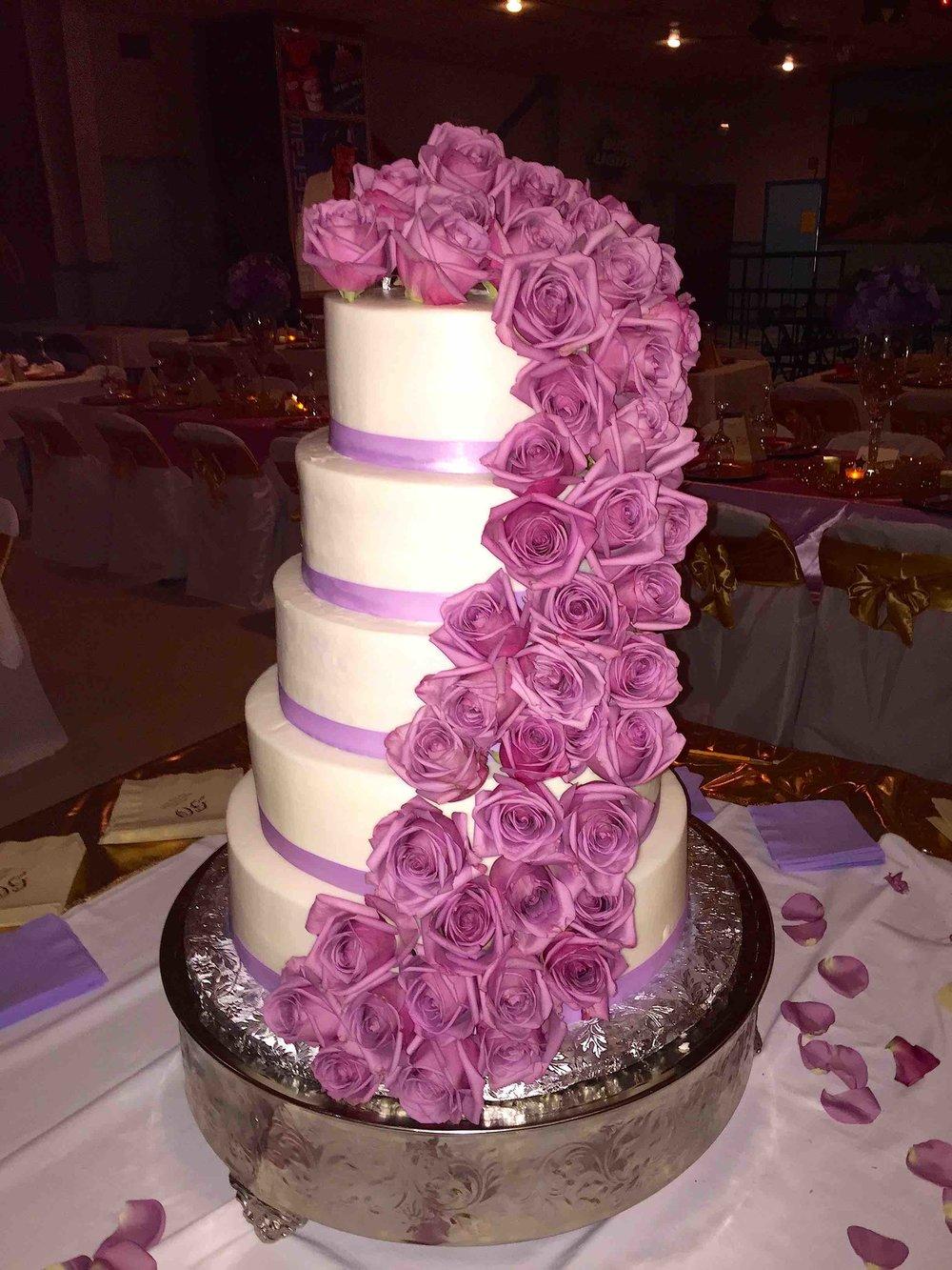 Violet cascade cake.