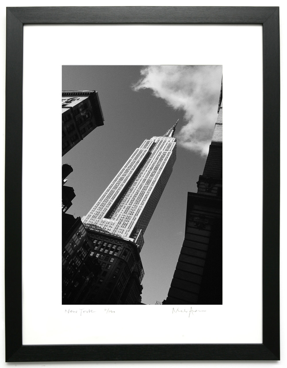 Framed print of new york empire state building new york