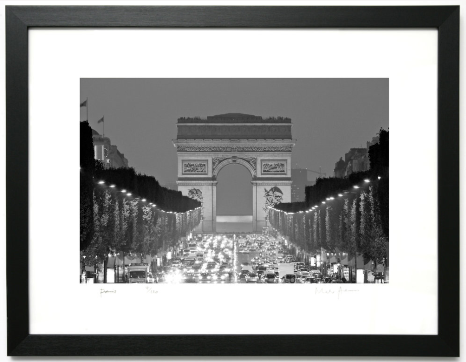 Framed Paris Prints Black & White -
