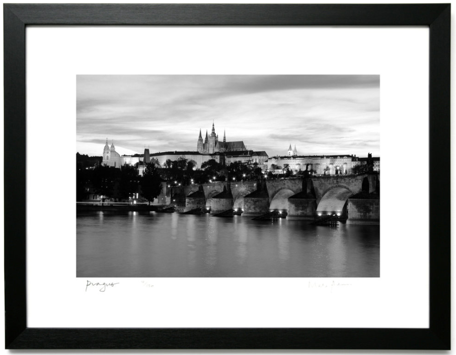 Framed Prague Prints Black & White -