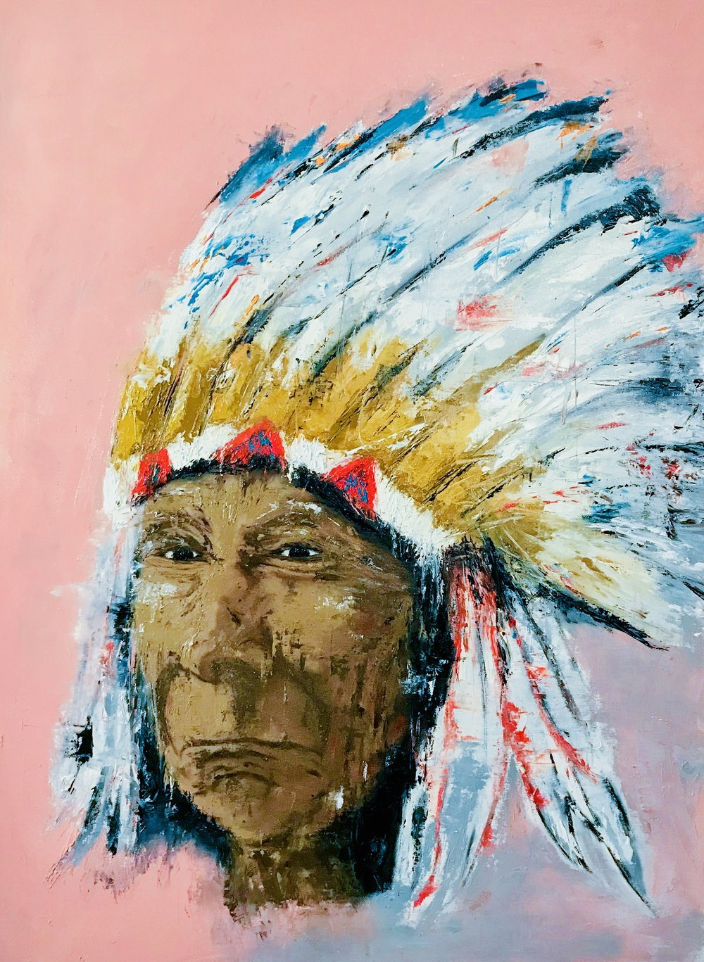 'Spiritual Guide' - 30X40|Oil on Canvas|