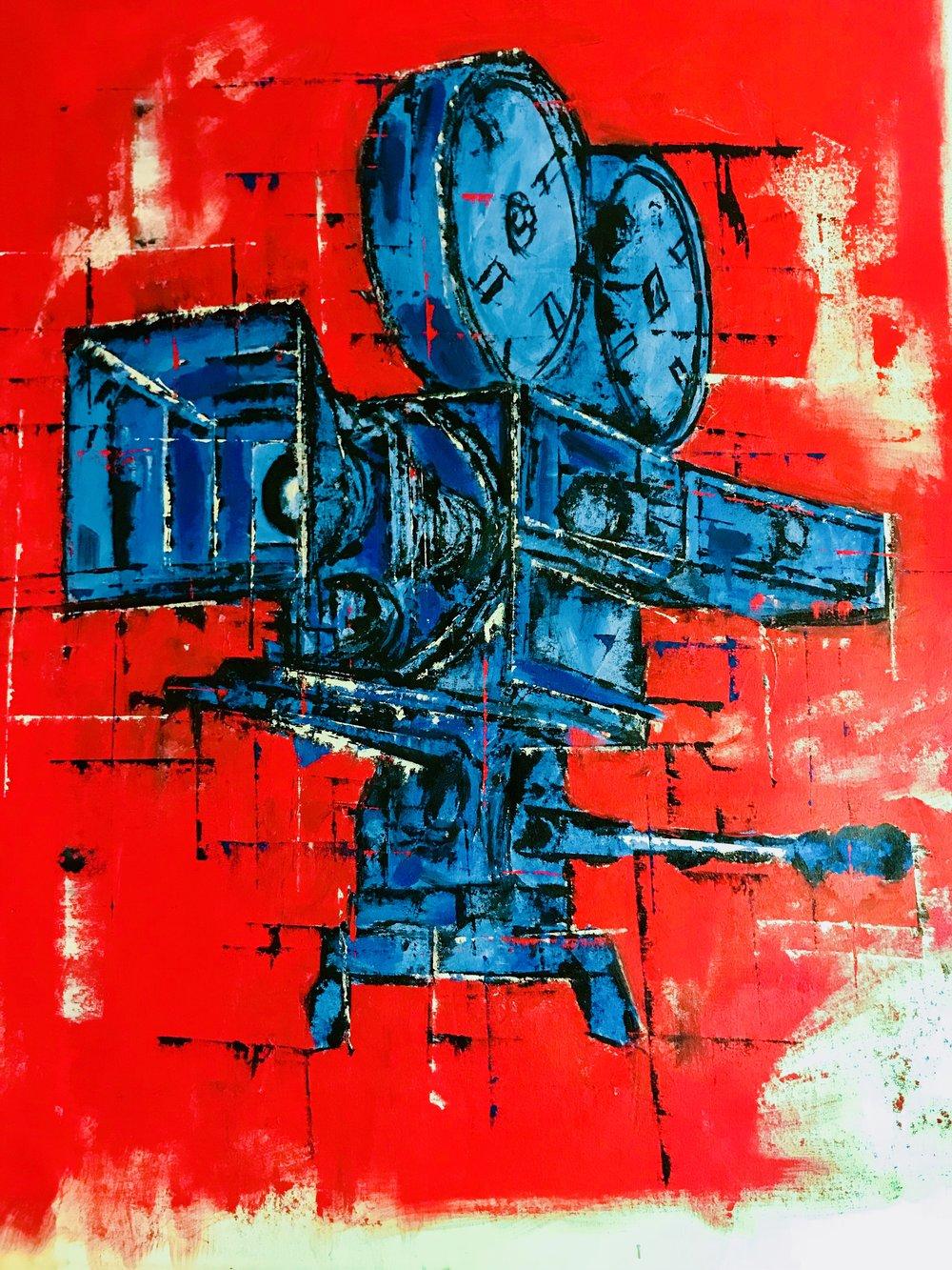 'Hollywood On Fire' - 40X50|Oil On Canvas|