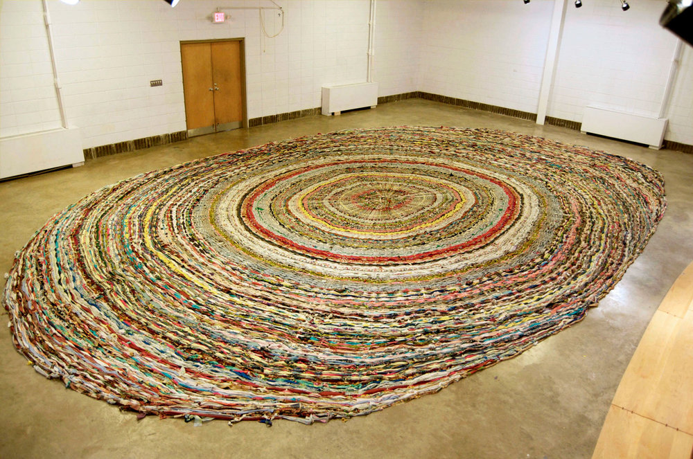 Smaller than Some. Larger than Most. Maybe Not the World's Largest Rag Rug by Amy Masters. Photo credit: Amy Masters