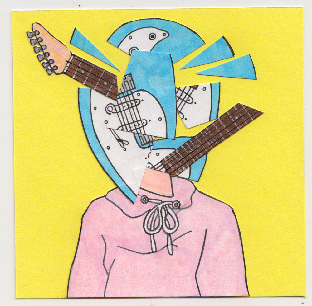 """Everytime"" inspired Boy Pablo; Illustration collage on Folia art paper, 4x4 inches."