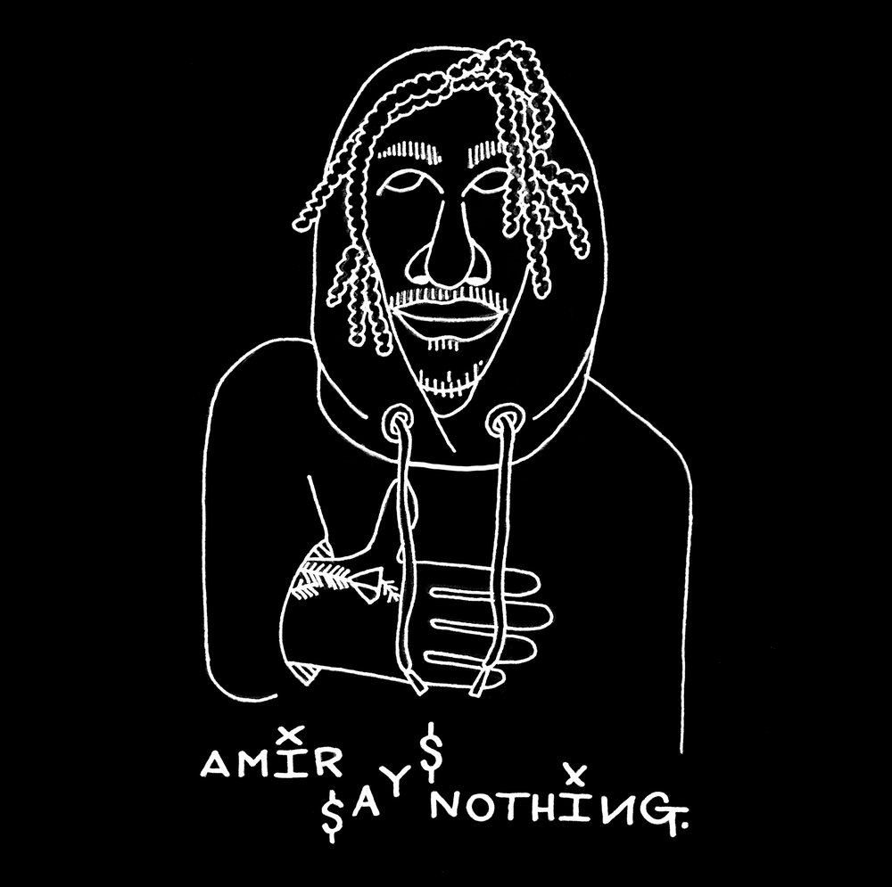 """AmirSaysNothing."" (2018); Inverted pen illustration / Photoshop"