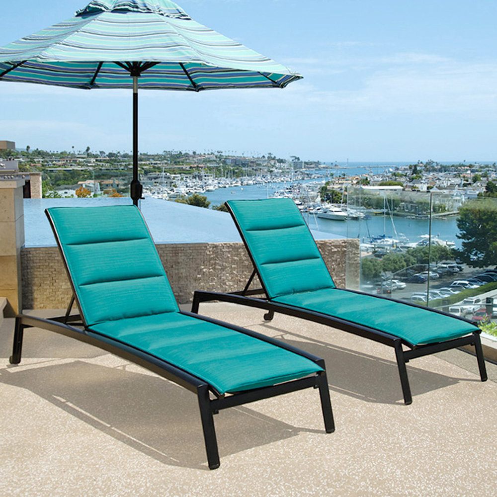 John Caldwell Design Elance Deck Chaise and Umbrella