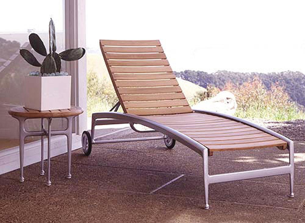 John Caldwell Design Silver Chaise