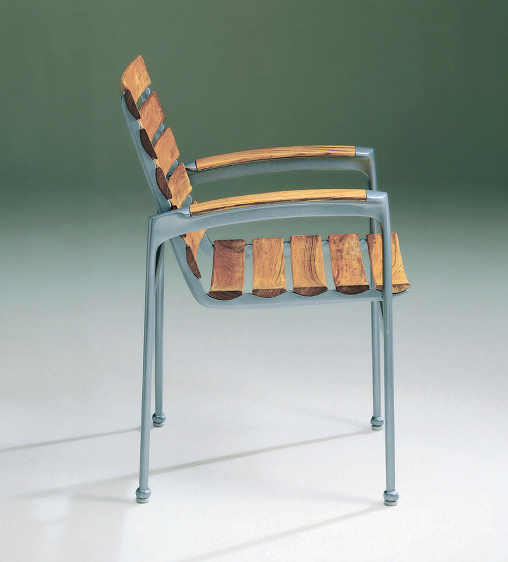 John Caldwell Design Silver Chair