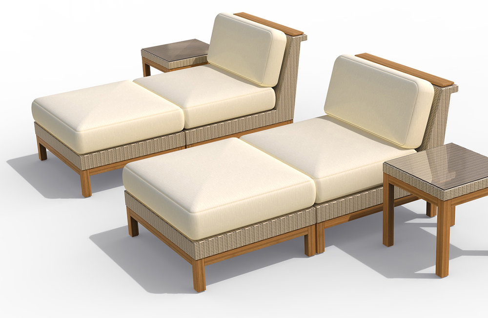 John Caldwell Design Azores Chaise